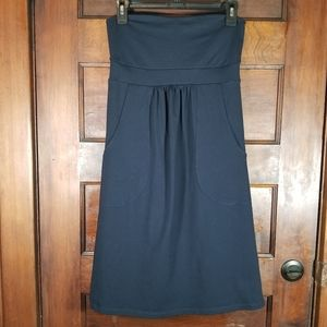 Susana Monaco Strapless Navy Dress with Pockets